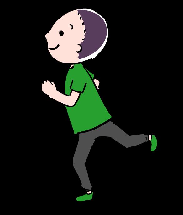イラスト 走っている 人 子供 10