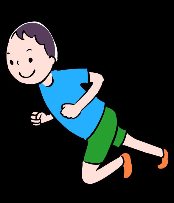 イラスト 走っている 人 子供 02