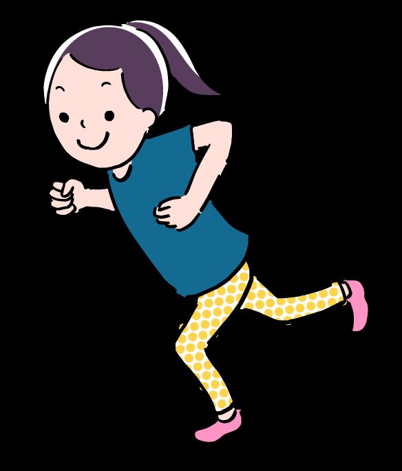 イラスト 走っている 人 子供 09